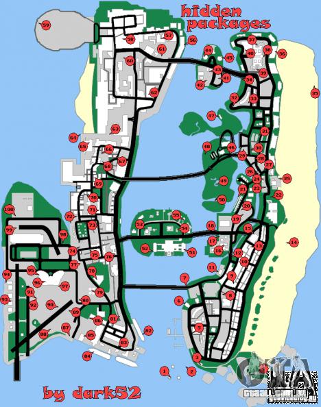 Mapa oculto paquetes de GTA Vice City
