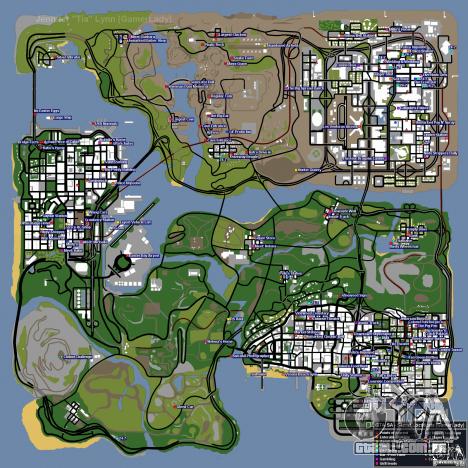 Mapa de conchas para GTA San Andreas