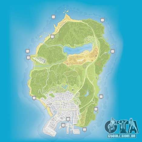 Mapa de pacotes escondidos em Grand Theft Auto 5