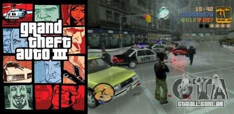 Europeus lançamentos: o GTA 3 para PSN