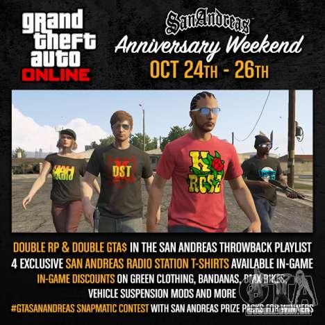 fim de Semana em San Andreas: prêmios e concursos