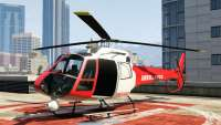 Buckingham Police Maverick (emergency) do GTA 5 - vista frontal