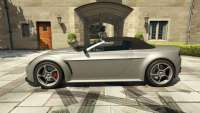 Dewbauchee Rapid GT Convertible do GTA 5 - vista lateral