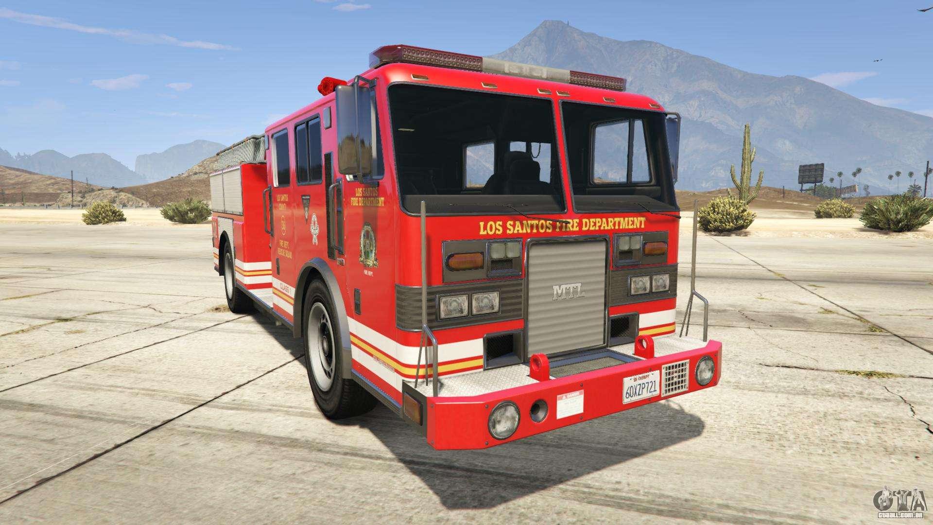 GTA 5 MTL Fire Truck - vista frontal