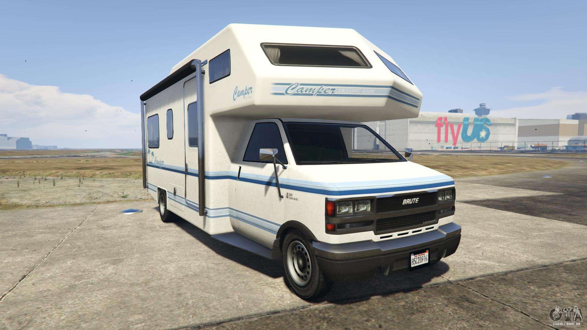 GTA 5 Brute Camper - vista frontal