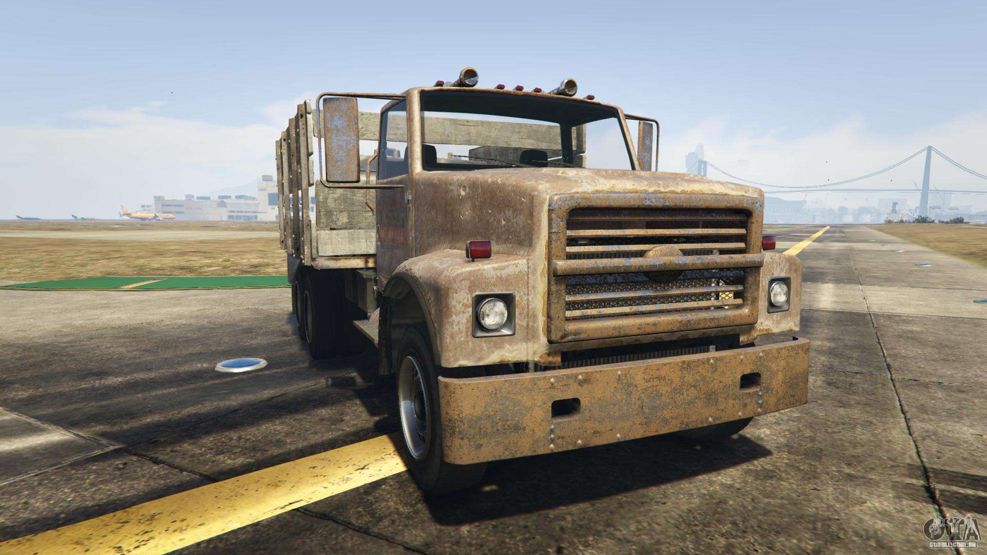 GTA 5 Vapid Scrap Truck - vista frontal