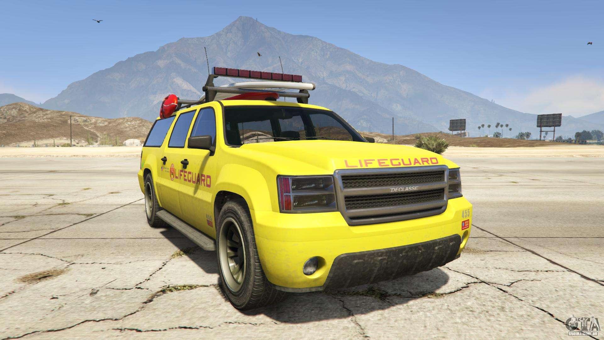 GTA 5 Declasse Lifeguard - vista frontal