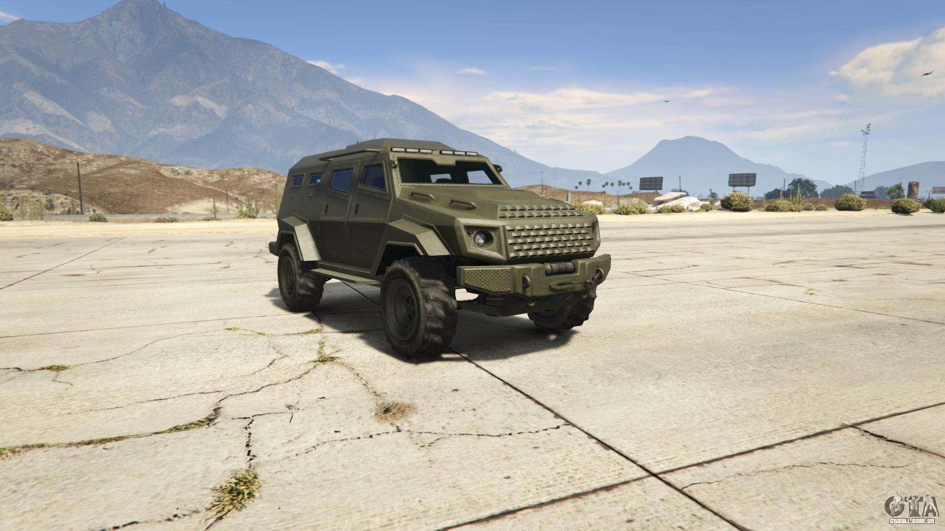 GTA 5 HVY Insurgent - vista frontal