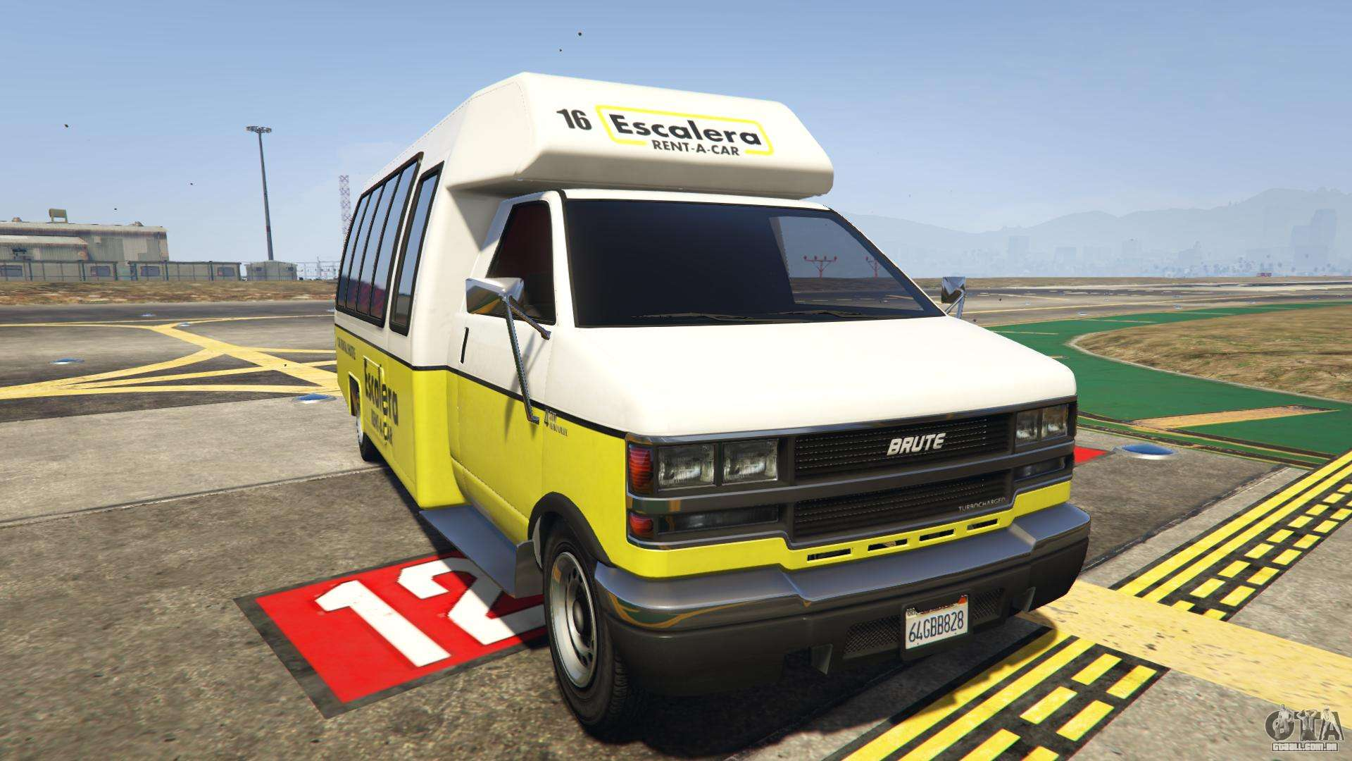 GTA 5 Brute Rental Shuttle Bus - vista frontal