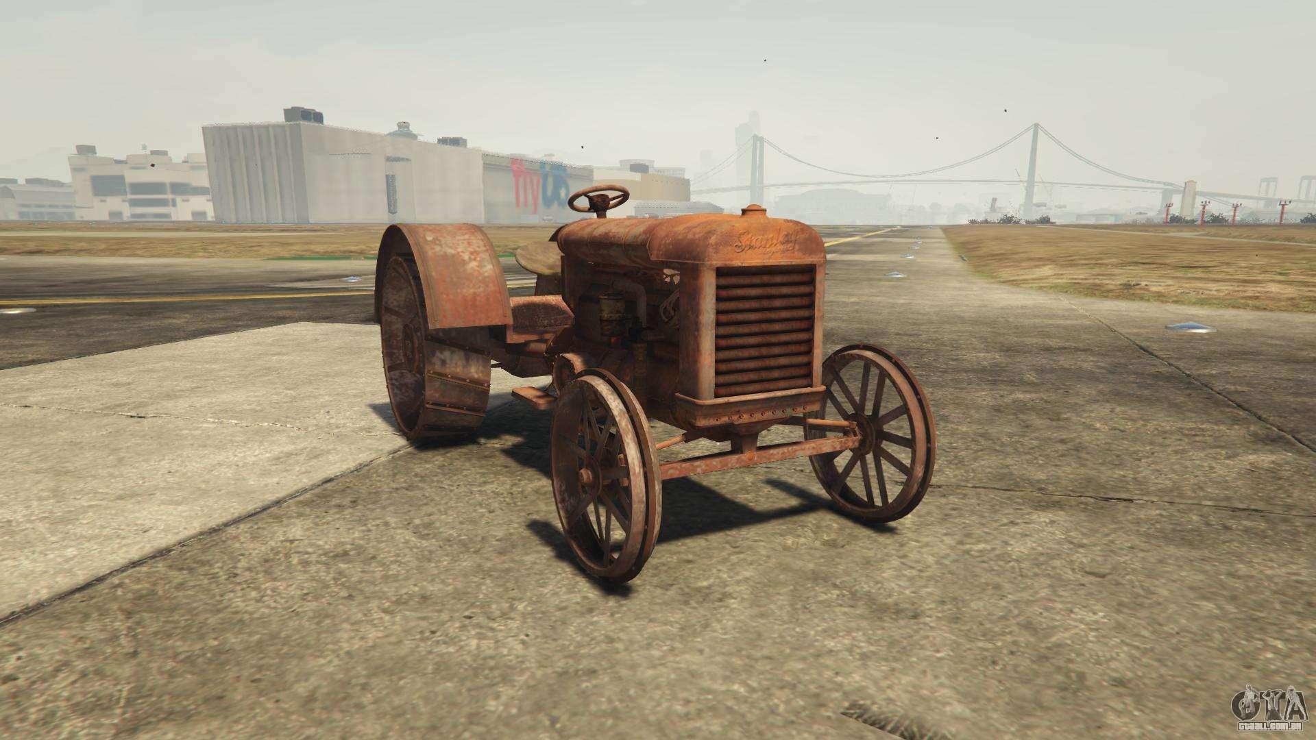 GTA 5 Stanley Tractor - vista frontal
