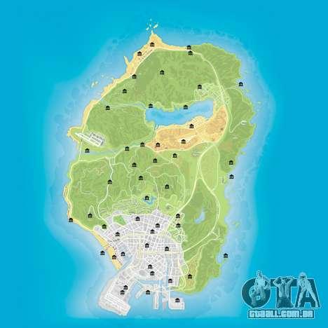 Mapa de bancos de GTA 5