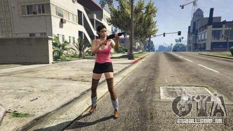 Personagem feminina no GTA 5 Online