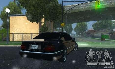 Mercedes-Benz 600SEC para GTA San Andreas traseira esquerda vista