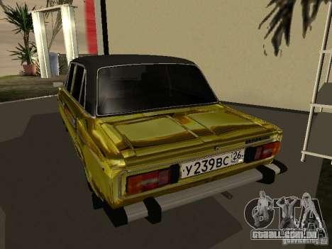 VAZ 2106 (ouro) para GTA San Andreas esquerda vista