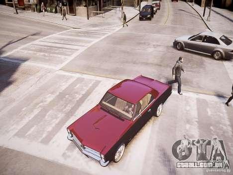 Pontiac GTO 1965 Custom discks pack 1 para GTA 4 vista direita