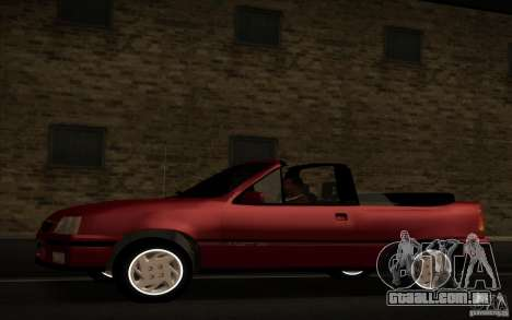 Chevrolet Kadett GSI Cabrio para GTA San Andreas esquerda vista