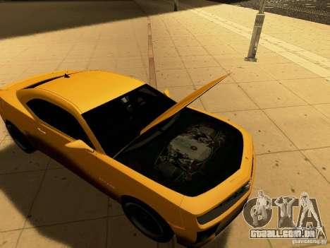 Chevrolet Camaro SS 2010 para GTA San Andreas traseira esquerda vista