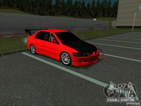 Mitsubishi Lancer Drift para GTA San Andreas esquerda vista