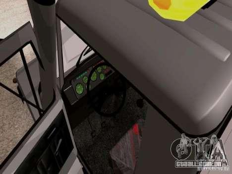 Caminhão de reboque de GAZ 3309 para GTA San Andreas vista interior