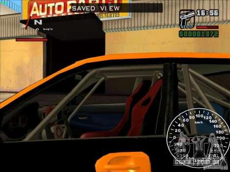 Subaru Impreza WRX Sti 2006 Elemental Attack para GTA San Andreas vista interior