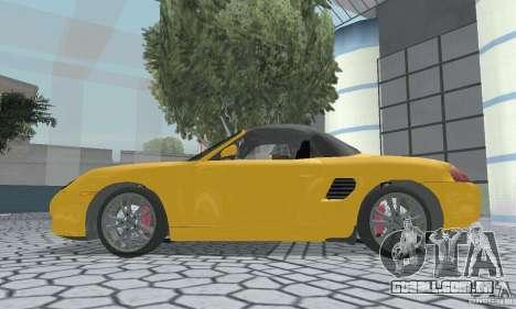 Porsche Boxster para GTA San Andreas vista direita