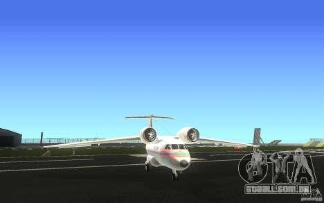 Antonov 74 para GTA San Andreas vista traseira