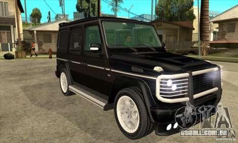 Brabus B11 W463 2008 v1.0 para GTA San Andreas vista traseira