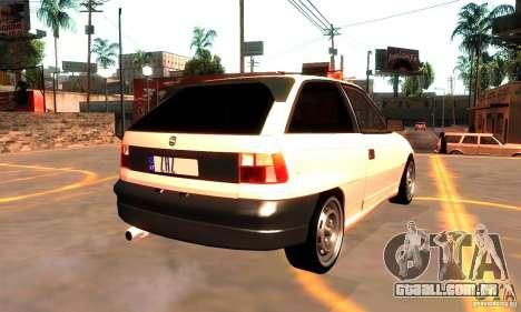 Opel Astra 1993 para GTA San Andreas vista traseira