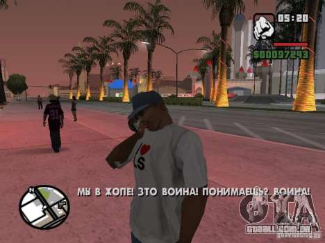 IPhone 4G preto para GTA San Andreas terceira tela