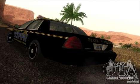Ford Crown Victoria Alaska Police para GTA San Andreas esquerda vista