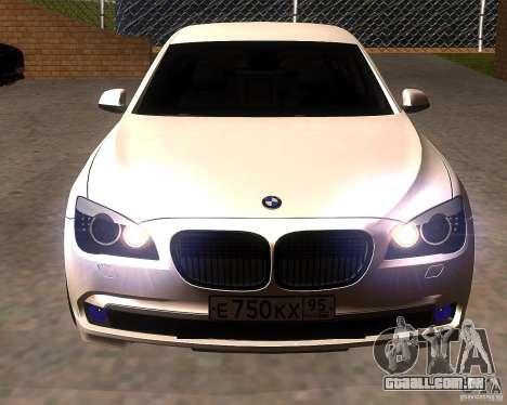 BMW 750Li 2010 para GTA San Andreas vista traseira
