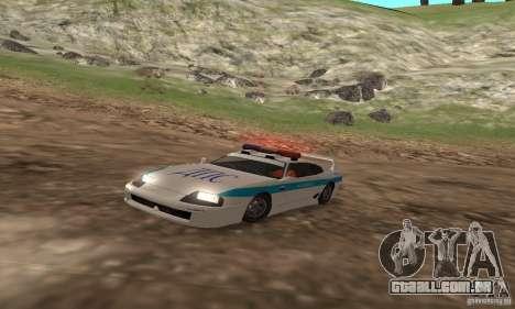 Jester Russian Police para GTA San Andreas esquerda vista