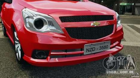 Chevrolet Agile para GTA 4 vista lateral