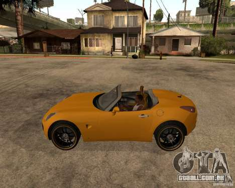 Pontiac Solstice GXP para GTA San Andreas vista traseira