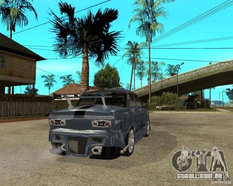 AZLK 2140 SX-sintonizado para GTA San Andreas traseira esquerda vista