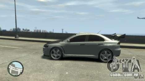 Mitsubishi Lancer Evo X Drift para GTA 4 vista direita