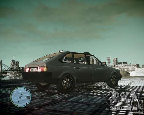 AZLK Moskvich 2141 para GTA 4 vista de volta
