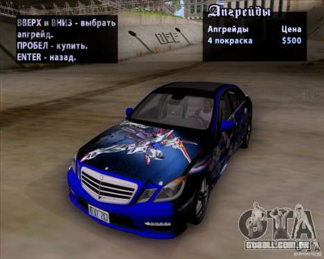 Mercedes-Benz E63 AMG V12 TT Black Revel para GTA San Andreas vista inferior