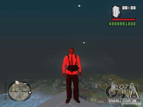 Camisa com gravata para GTA San Andreas por diante tela