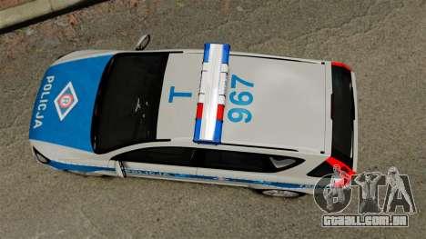 Kia Ceed 2011 SW Polish Police ELS para GTA 4 vista direita