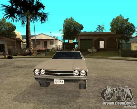 1969 Chevrolet Chevelle para GTA San Andreas vista traseira
