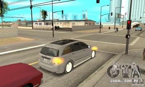 Mercedes-Benz R-Class para GTA San Andreas vista traseira