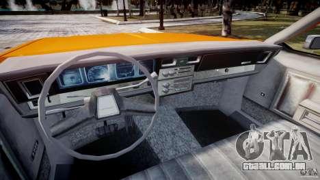 Chevrolet Impala Taxi v2.0 para GTA 4 vista de volta