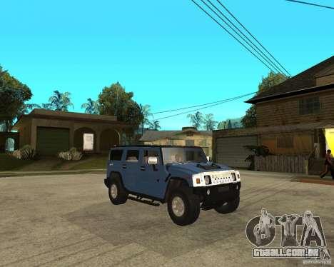 AMG H2 HUMMER para GTA San Andreas vista direita