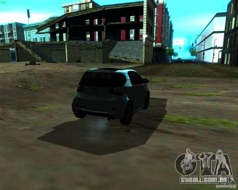 Aston Martin Cygnet para GTA San Andreas traseira esquerda vista