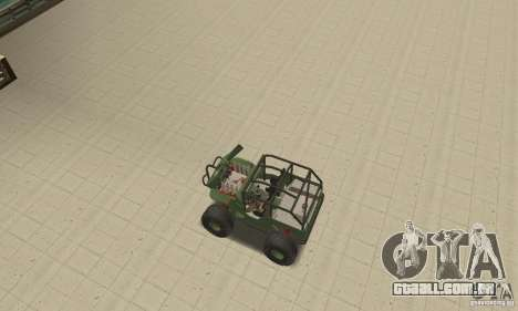 Jeep Willys Rock Crawler para GTA San Andreas vista superior