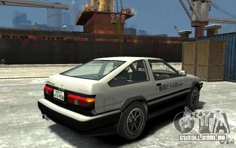 Toyota Sprinter Trueno AE86 para GTA 4 vista direita