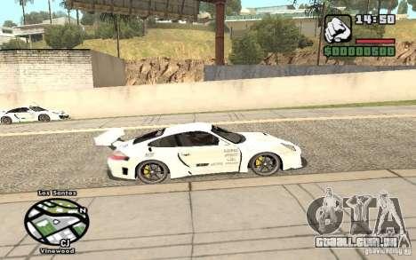 Porsche 911 Turbo S Tuned para GTA San Andreas traseira esquerda vista