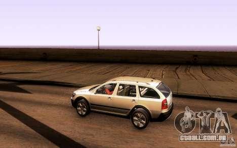 Skoda Octavia Scout para GTA San Andreas traseira esquerda vista