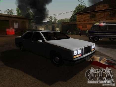 New Elegant para GTA San Andreas vista traseira